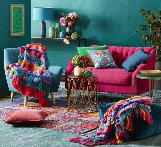 móveis-retro-para-decoracao-colorida-e-moderna-foto-pinterest