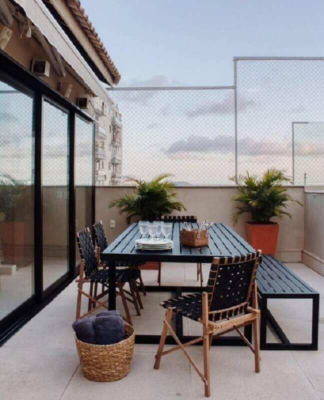 mesa e cadeira para varanda Foto LZ Studio