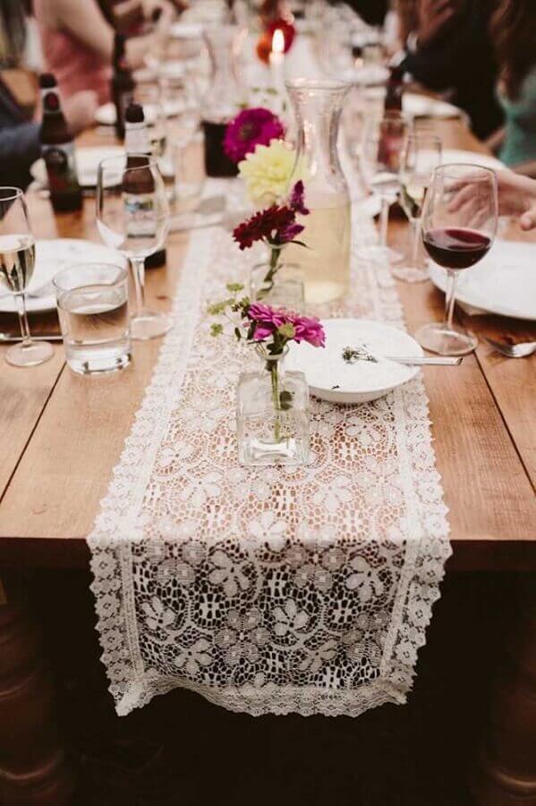 mesa rústica para aniversário de casamento simples Foto Pinterest