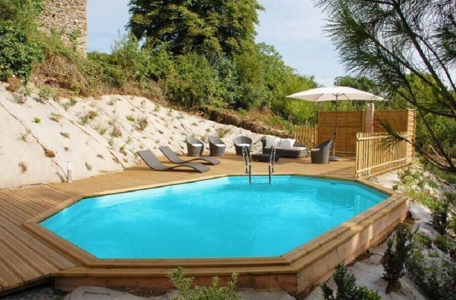 modelo de piscina de fibra