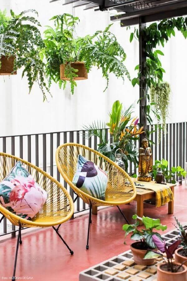 modelo simples de cadeiras para varanda Foto Lojas Incor