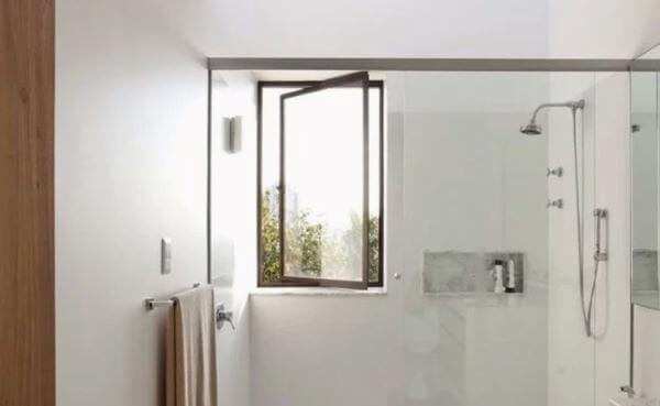 Modelos de janela para vidro pivotante