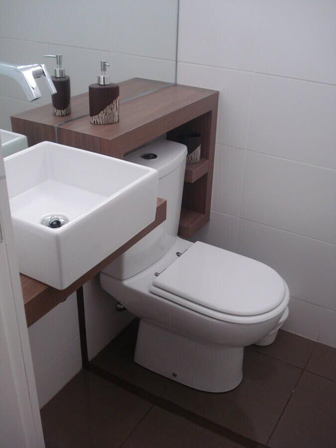 modelos de pia para banheiro pequeno com cuba quadrada Foto Webcomunica