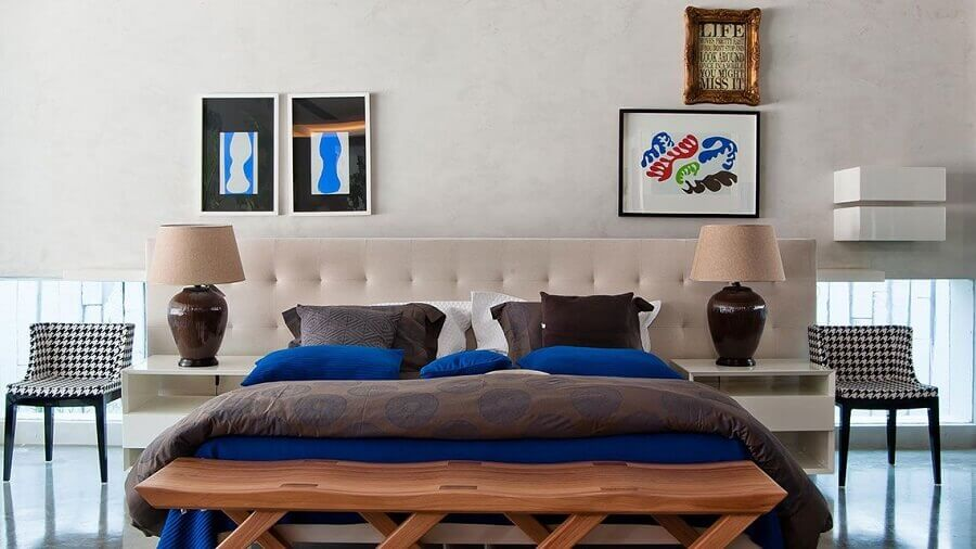 modelos diferentes de quadros decorativos para quarto de casal Foto Bruno Carvalho