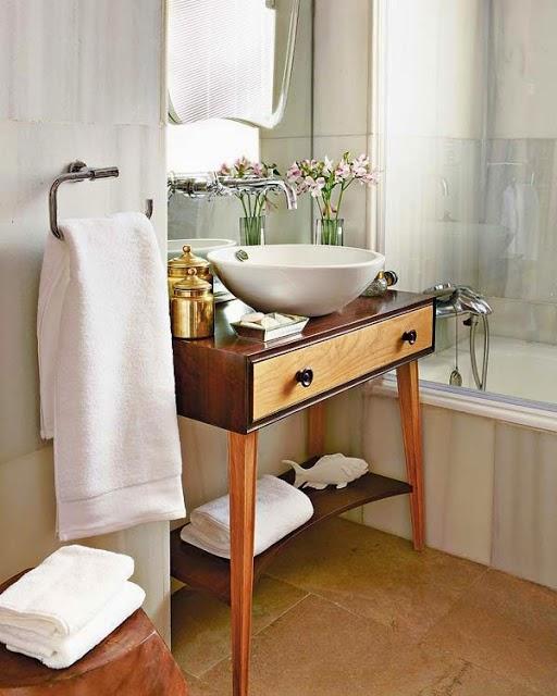 Móveis retrô para banheiro