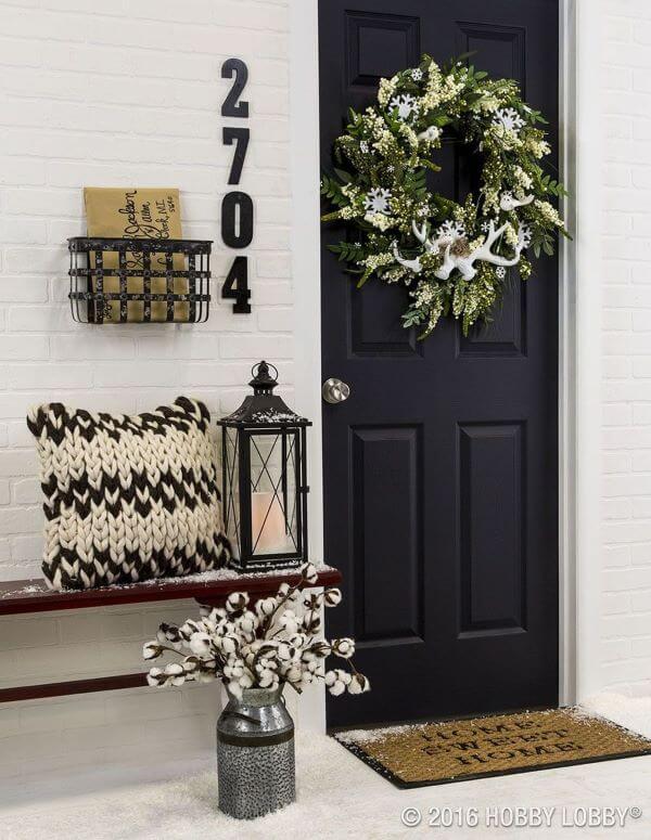 Número de casa com varanda