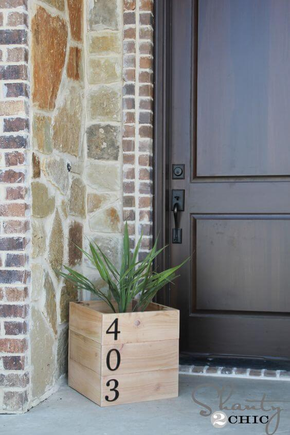 Número de casa no vaso