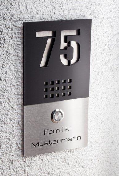Número de casa para ambientes modernos