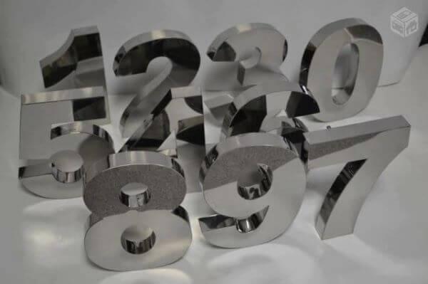 Número de casa em inox avulso