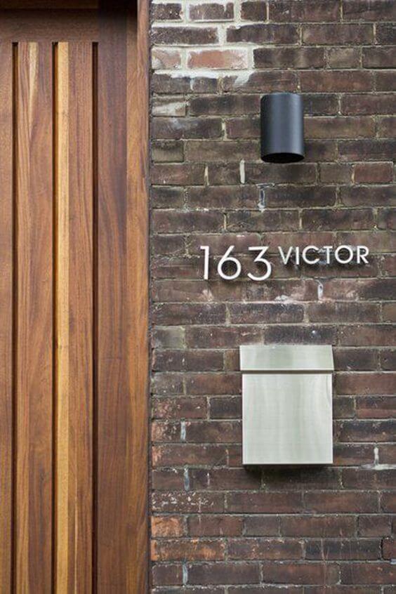 Número de casa em inox