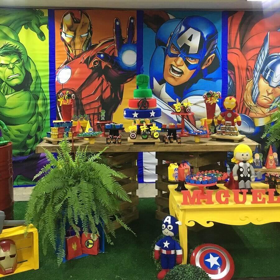 panel for avengers birthday party Foto Pinterest