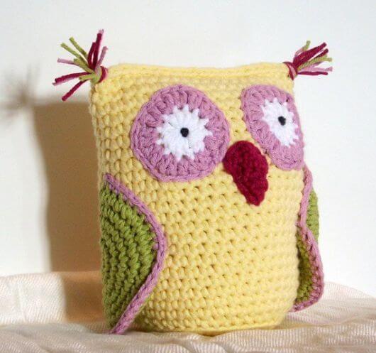 Weight for owl crochet door