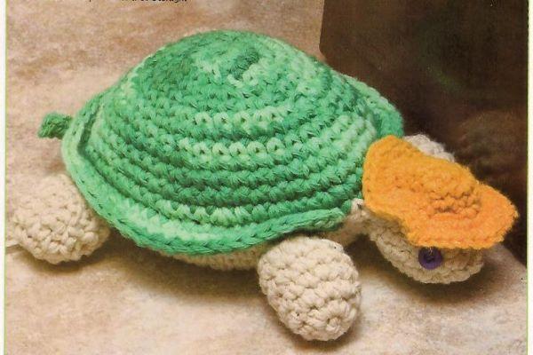 peso de porta de crochê tartarugas