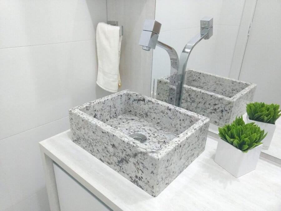 pia de mármore para banheiro pequeno Foto Dicas Decor