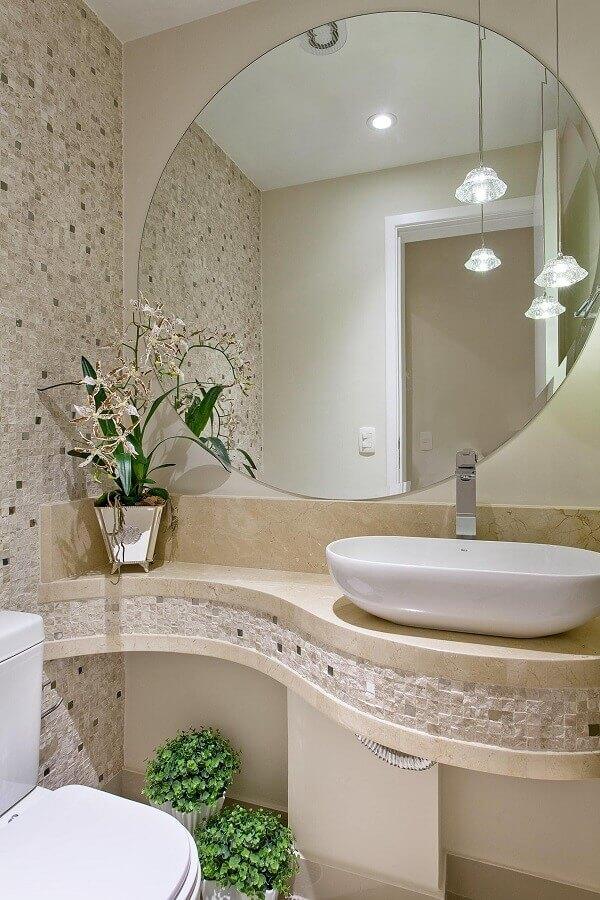 pia de mármore para banheiro pequeno e sofisticado Foto Assetproject