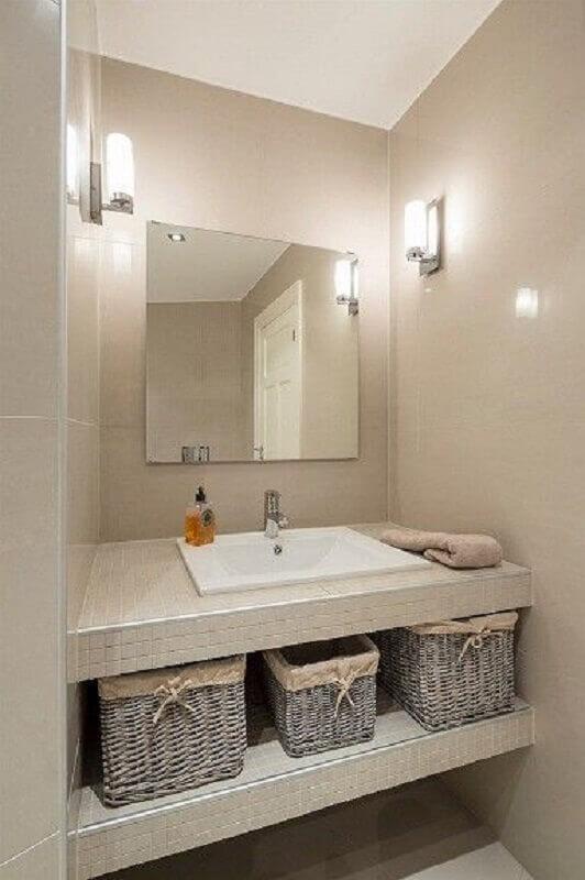 pia para banheiro pequeno Foto Tudo Construção