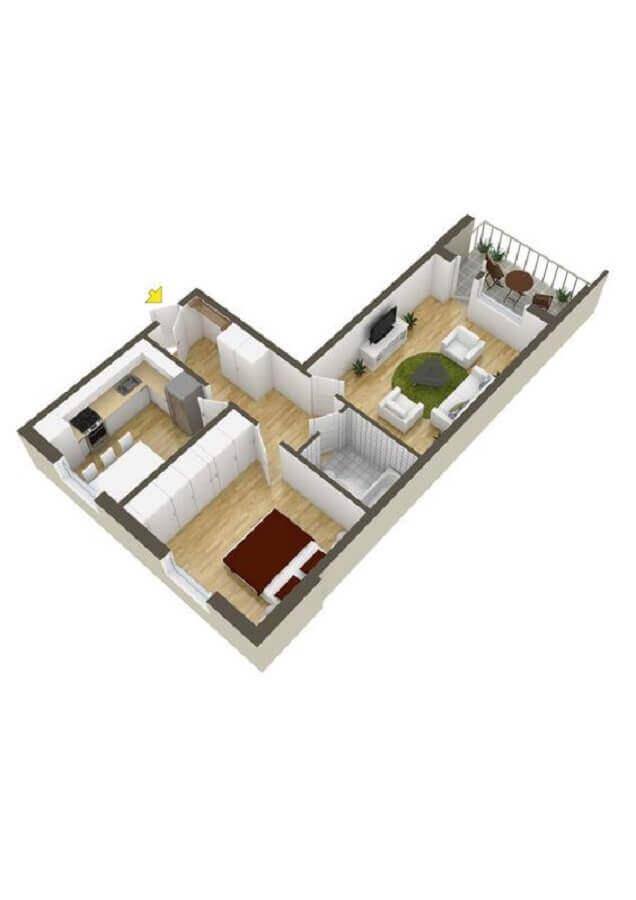 planta de casa em l pequena Foto Home Designing