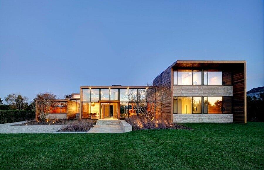 projeto moderno de casa em l Foto Out East