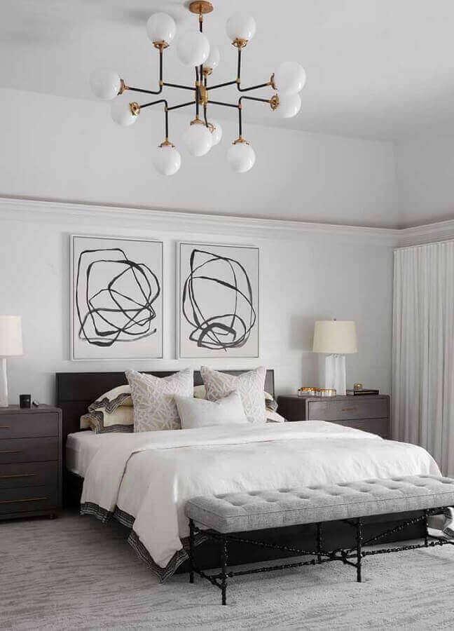 quadro de casal decorado com quadro preto e branco grande Foto Pinterest