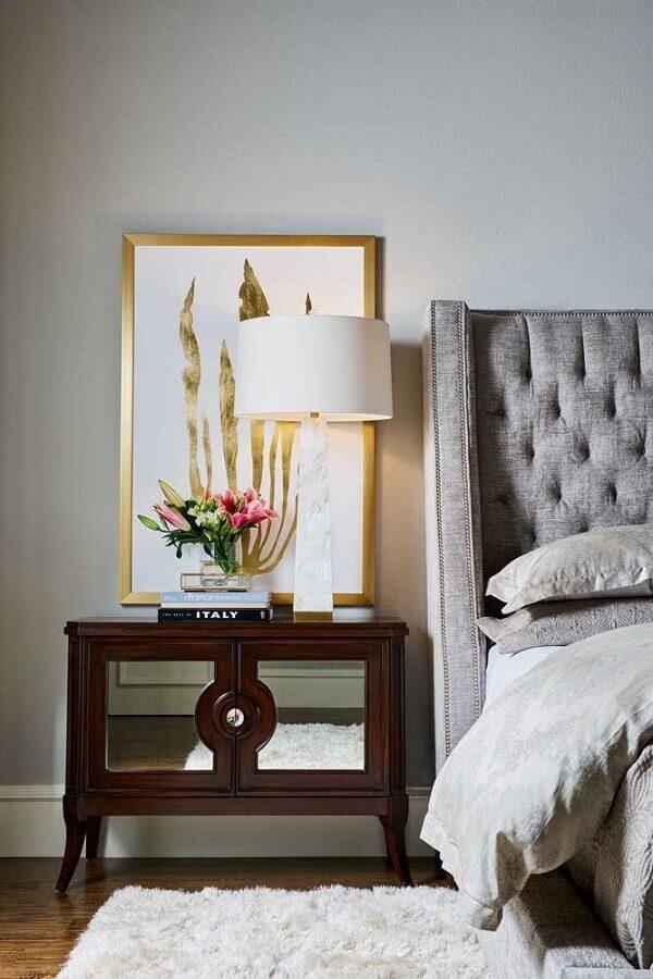 quadros decorativos para quarto de casal sobre criado mudo Foto Houzz