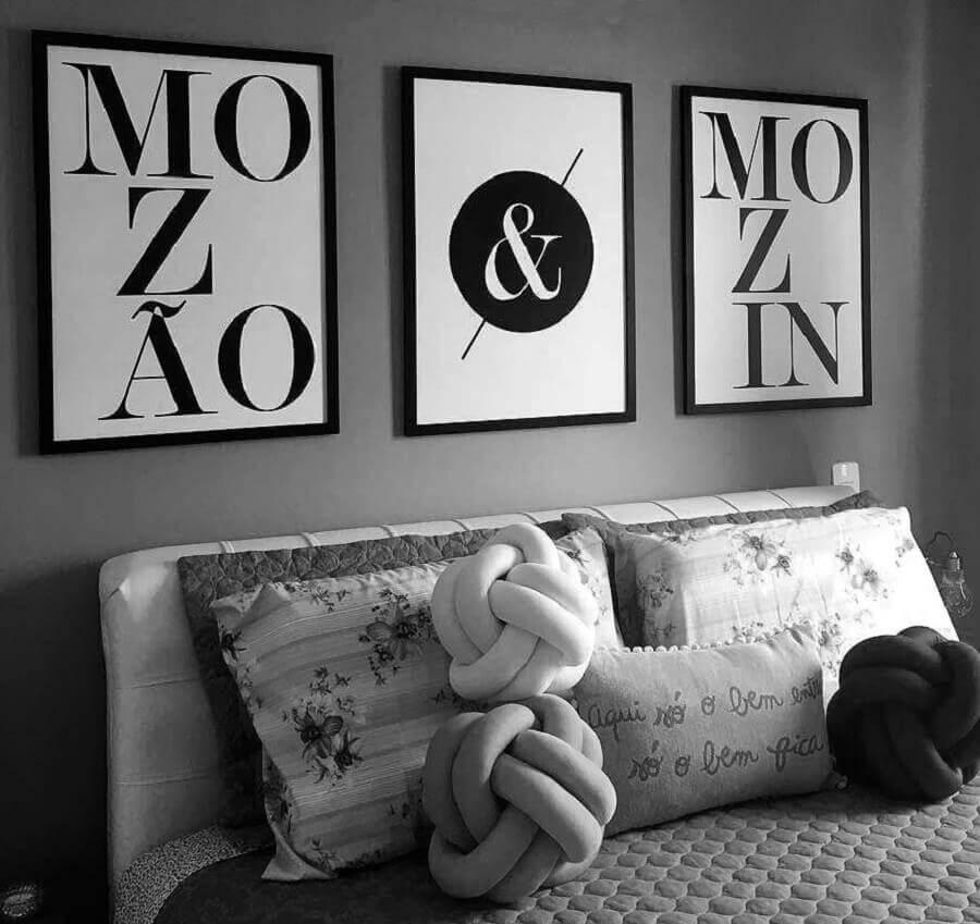 quadros decorativos preto e branco Foto DePoster