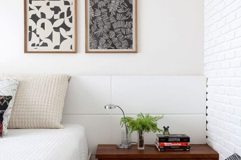 quadros para quarto com decoração clean