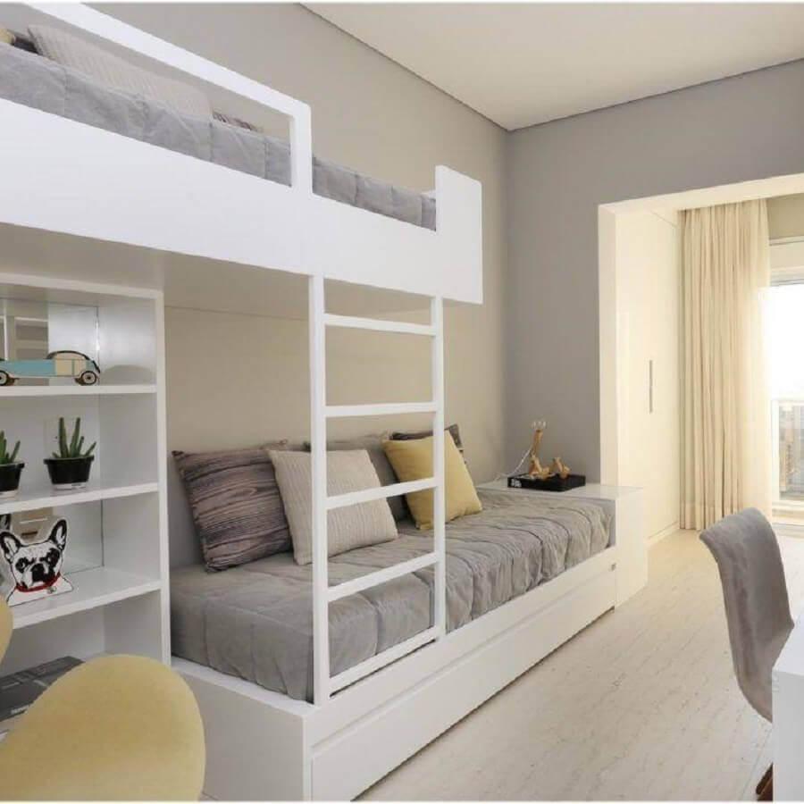 quarto juvenil planejado com cama beliche Foto Chris Silveira Arquiteta