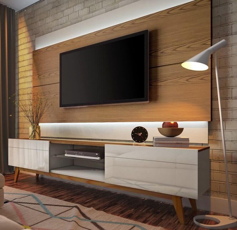 rack retro com painel para tv Foto Mobilita