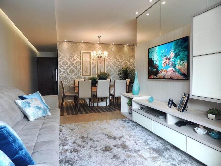 racks modernos com painel para decoração de sala de estar Foto Only Design