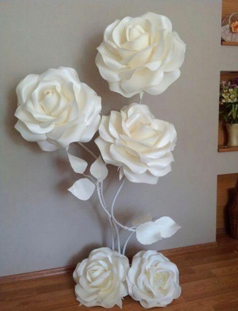 rosas de papel - arranjo de rosas de papel