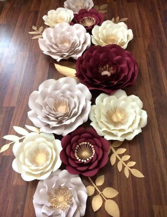 rosas de papel - centro de mesa de rosas de papel colorido