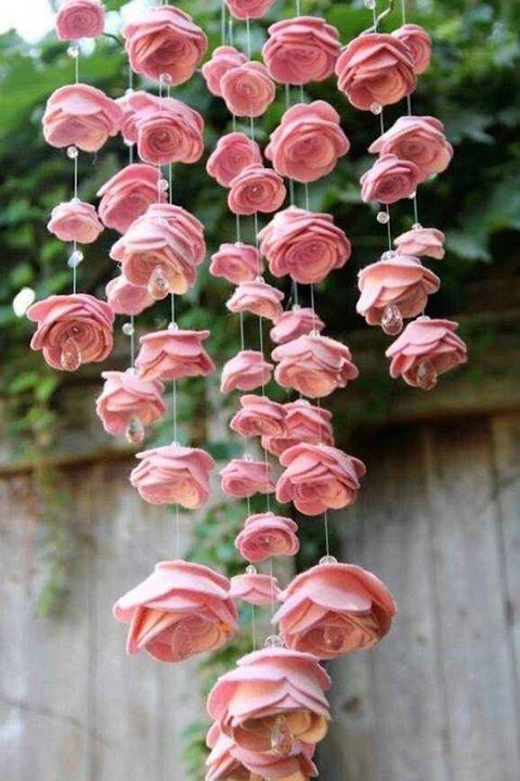 rosas de papel - fuxico de rosas de papel