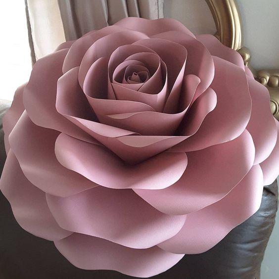rosas de papel - rosa de papel rose gold