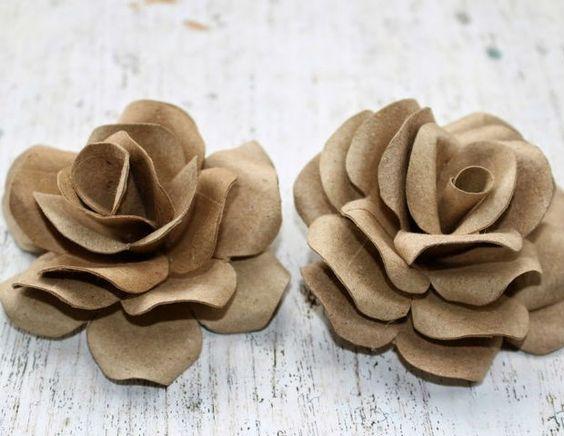rosas de papel - rosa de rolo de papel higiênico