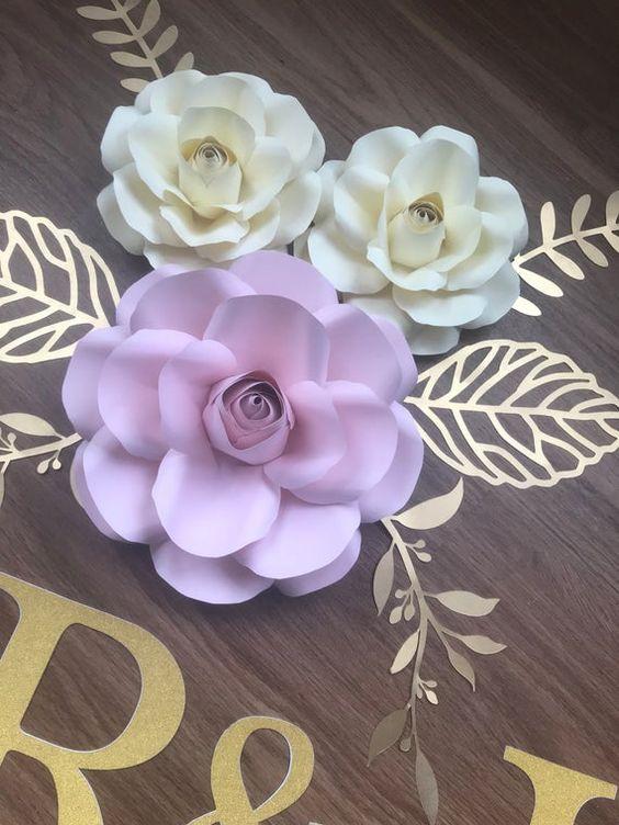rosas de papel - rosas coloridas de papel
