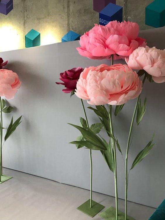rosas de papel - rosas de crepom