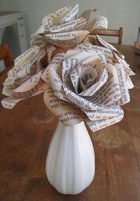 rosas de papel - rosas de jornal