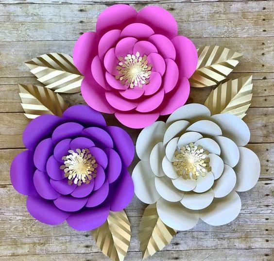 rosas de papel - rosas de papel colorido