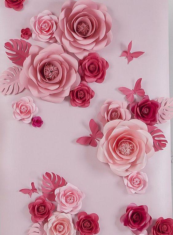 rosas de papel - rosas de papel simples