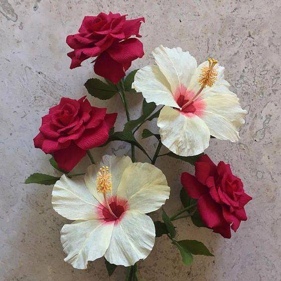 rosas de papel - rosas de papel vermelho