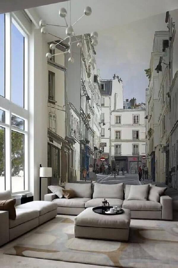 sala decorada com conjunto de sofá cinza Foto Cute & Paste