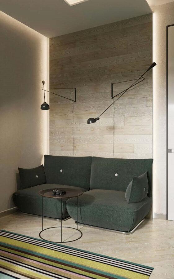 sala moderna com sofá pequeno verde Foto iFuun