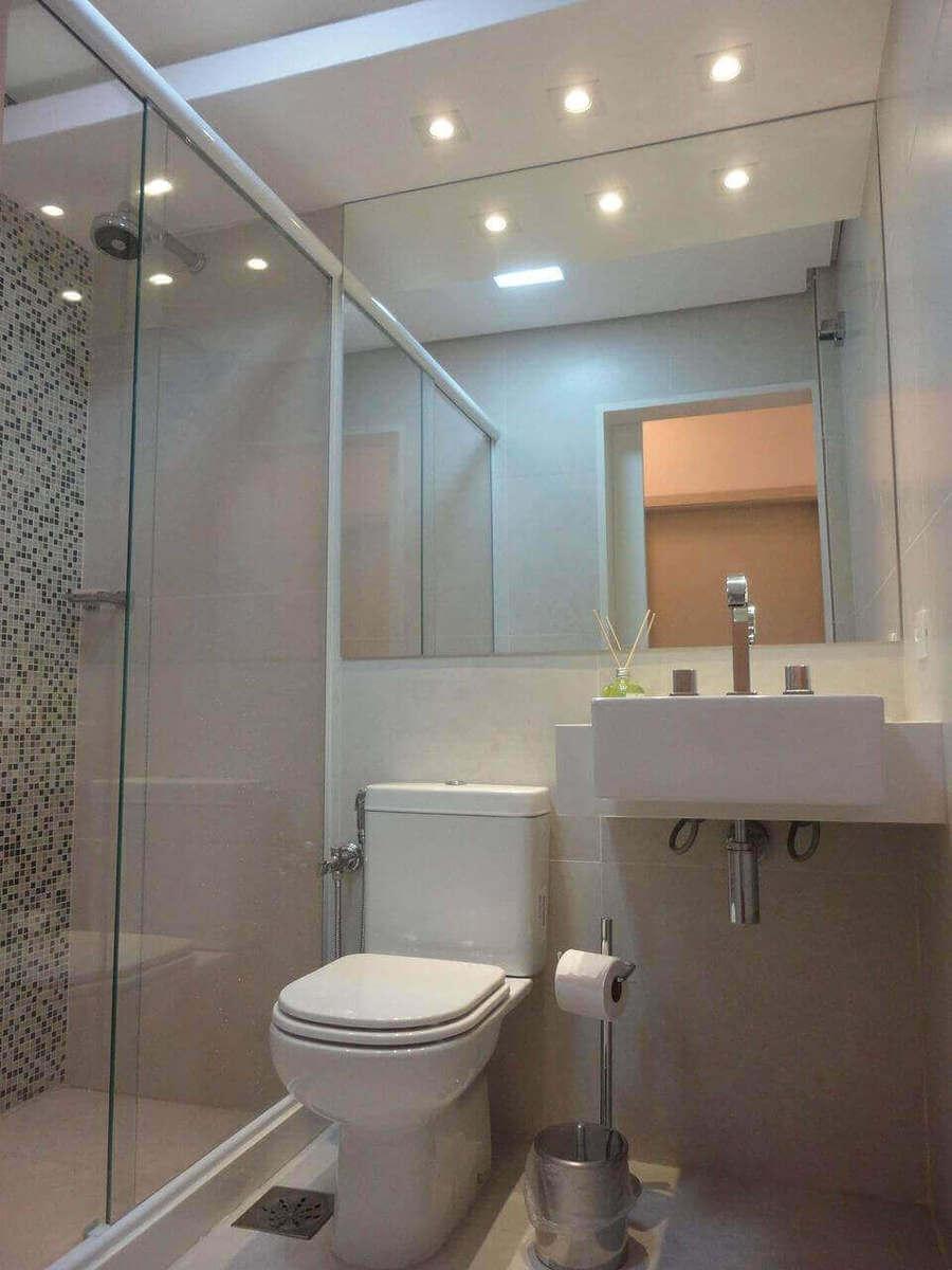 sanca de isopor - banheiro com sanca e spot