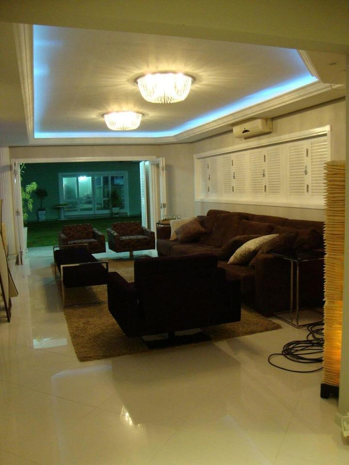 sanca de isopor - sala de estar com poltronas