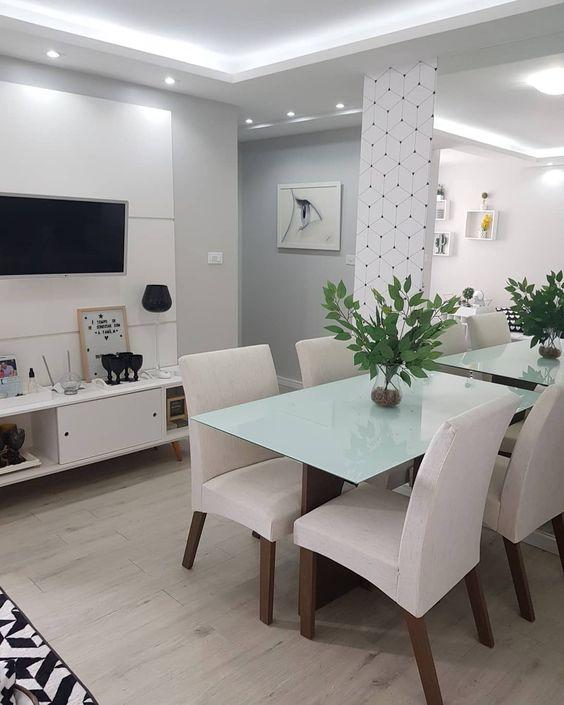 sanca de isopor - sala de jantar com sanca