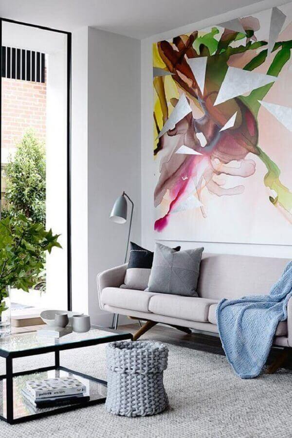 sofá cinza para sala moderna e sofisticada Foto Revista Micasa