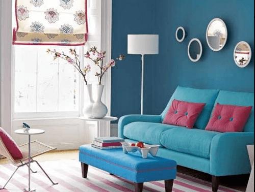 móveis retrô coloridos