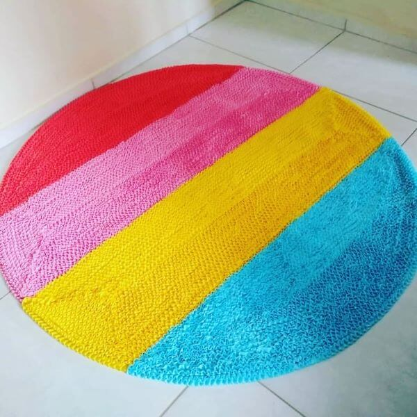 Tapete frufru colorido