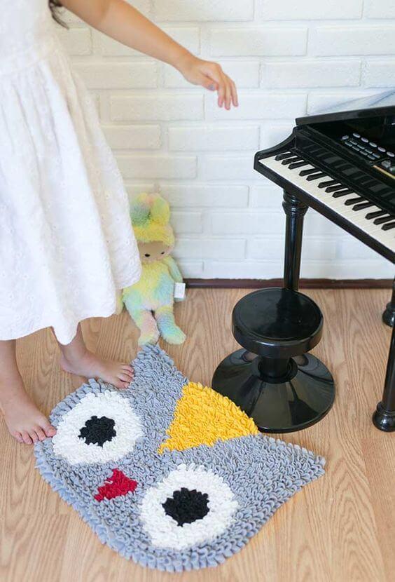 Tapete frufru para quarto infantil