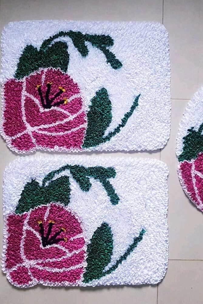 Tapete frufru para rosa